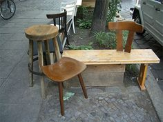 Berlino Bench 2004 Reclaimed furniture, wood