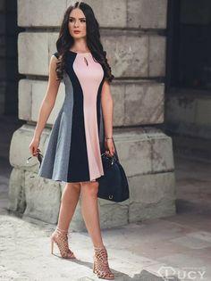 bcc9276c9343 Dámske elegantné šaty LUCY - viac-farebná