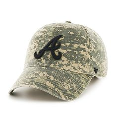 f96f5bf945b Amazon.com   MLB Atlanta Braves Digital Camo Relaxed Fit Cotton Twill Cap  by  47   Sports   Outdoors