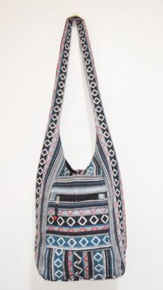 BLACK - Royal Elephant Hippie Crossbody Bag, Boho, Hobo ...