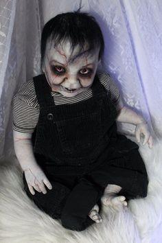 """Zombie Walking Dead Z Nation Reborn Baby Doll Horror 23"""" Halloween Rotten Rick   eBay"""