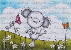 Happy Mouse  Digital Stamp by Sasayaki Glitter