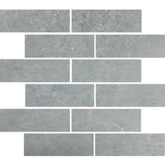 Style Selections Skyros Gray Glazed Porcelain Mosaic Subway Indoor/Outdoor Floor Tile (Common: 12-in x 14-in; Actual: 11.75-in x 13.75-in)