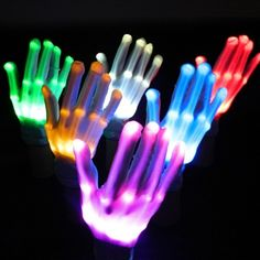 Accessories Colorful Led Flashing Finger Light Gloves Lighting For Rave Party Halloween Bar Led Gloves, Glow Party Supplies, Led Costume, Costumes, Valentines Day Holiday, Finger Lights, Novelty Lighting, Fancy Dress Accessories