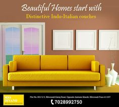 Customized multiple seater Indo-Italian couches in Pune by Mio Divano. Get vaierty of colour options, texture variations, style vaiables with best price guarantee. For enquiries call 7028992750
