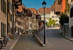 Streets of Aarau, Switzerland by Jan Geerk, via Most Beautiful Cities, Wonderful Places, Swiss Design, Austria, Switzerland, Places To Visit, Around The Worlds, Europe, Italy
