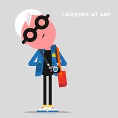 Looking At Art - Spencer Wilson Illustration