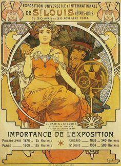 Alfons Mucha : Exposition de Saint Louis 1904 ------LOVE Alfons Mucha's works