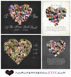 Heart Photo Collage - Your Life, My Design by Lali. Personalized Valentine's gifts for the special person in your life.