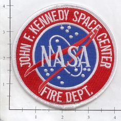 Up for sale is a John F Kennedy Space Center Fire Patch. This Patch is in NEW condition. It is NOT a badge or badge patch. This is a NEW full size regulation patch. Patch is for collection purposes. Kennedy Space Center, John F Kennedy, Patch Design, Firefighting, Fire Dept, Chicago Cubs Logo, Nasa, Badge, Patches