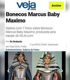 BONECOS DO BABY: Bonecos de Marcus Baby no site da revista Veja