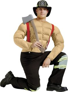 Sexy Calendar Fireman Muscle Adult Men Costume Price: $44.99
