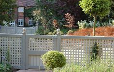 pretty pale grey garden gate and fence The Garden Trellis Company - Products