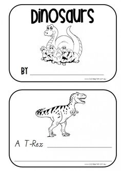 Use This 10 Page Each Mini Book When Learning About DinosaursThere Are 7 Pages With A Picture Of Dinosaur And Lines To Fill In Fact It