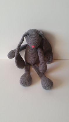 Stuffed animal bunny crochet door Hippiewildflower op Etsy