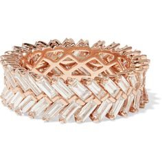 Anita Ko Zipper 18-karat rose gold diamond ring ($11,825) ❤ liked on Polyvore featuring jewelry, rings, rose gold, 18 karat gold ring, diamond jewellery, zipper ring, 18k rose gold ring and pink gold rings