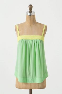How to Add Sea Foam Green Into Your Wardrobe | Heat Index Tank - Anthropologie $68