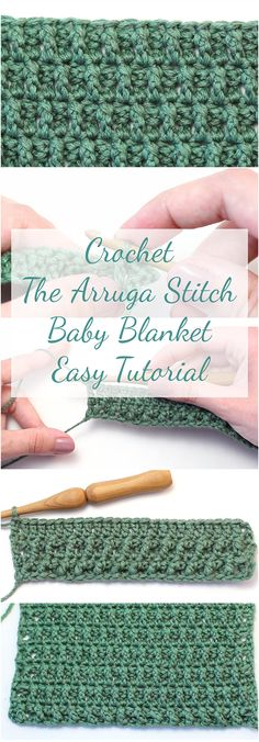 #crochetbloggererfect article for those who want to learn how to crochet a baby blanket with an arruga stitch technique. Tutorial comes with a free video! | Stitch Tutorial For Beginners | Crochet For Beginners | Crochet Tutorial For Beginners | Free Video DIY | Crochet Baby Blanket | Free Baby Blanket tutorial | DIY Baby Blanket | Crochet Blanket | #Babyblankets #Crochet #Crocheting #crochetblankets #crochetblog #crochetblogger #crochetlove #stitch
