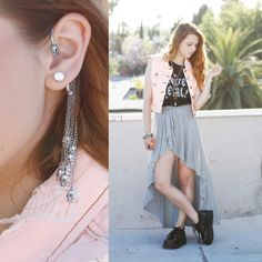 I (don't actually) LOVE METAL!  (by KayKay Blaisdell) http://lookbook.nu/look/3681351-I-don-t-actually-LOVE-METAL