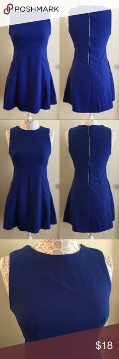 "• Forever 21 • Royal Blue Dress This dress is perfect for a nice dinner or cocktail party! I am 5'4"", and it goes down to my mid-thigh. 0331180.  ✅No lowball offers! ✅BUNDLE DISCOUNTS! 🚫No trades/paypal/other apps. Forever 21 Dresses"
