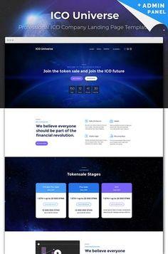 ICO Universe - ##bitcoin Cryptocurrency MotoCMS 3 #landingpage #website #templates