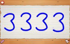 escribe libremente números y letras en tu pizarra digital.