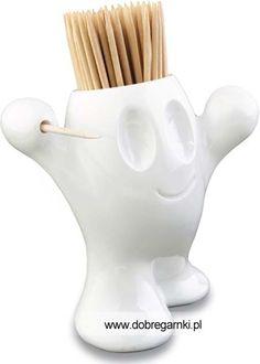 Zabawny pojemnik na wykałaczki został wykonany z wysokiej jakości tworzywa sztucznego. Pojemniczek jest bardzo praktyczny a na stole prezentuje się znakomicie wywołując uśmiechy na twarzach domowników.