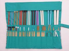 large knitting needle case knitting needle by knitonebeadtwo