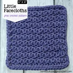 Free Crochet Pattern Facecloths 6x6
