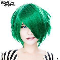 Cosplay Wigs USA™ <br> Boy Cut Short - Emerald Jade Green -00448