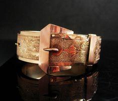 Antique Buckle bracelet Rose gold filled by vintagesparkles