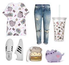 """""""pusheen outfit contest"""" by kalisplayer on Polyvore featuring Pusheen and adidas"""