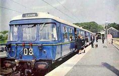 Taken from BR's publicity during the 1960s is this Blue Train at an unknown Scottish station. Following the serious reliability issues that clouded the electrification for the first 18 months, suburban Glasgow has benefited massively and now 2.5 million homes are served by the scheme. #train