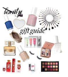 """Gift 🎁 guide"" by victoriagrande on Polyvore featuring beauty, Givenchy, Kylie Cosmetics, Sigma, Huda Beauty, Essie, Molton Brown, Gucci and Anya Hindmarch"