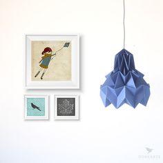 Luminária Pendente Hope – Marinho - Dobrarte Origami