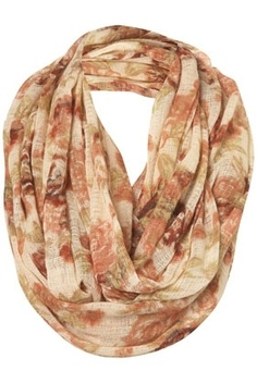 Cream Floral Print Snood - View All - Scarves - Topshop USA - StyleSays