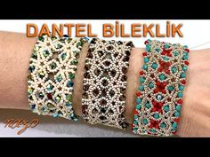 How to make a lace bracelet – Schmuck Beaded Bracelets Tutorial, Beaded Bracelet Patterns, Seed Bead Bracelets, Beading Patterns, Bead Earrings, Seed Beads, Free Beading Tutorials, Seed Bead Tutorials, Beaded Jewelry Designs