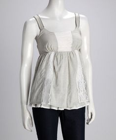 Olive & Ivory Lace Panel Tank by Willow & Clay
