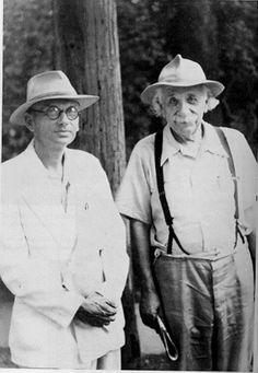 Kurt Gödel and Albert Einstein, Princeton 1950