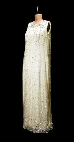 Balenciaga Couture Embelished Evening Gown 1965