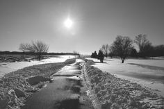 Logan's Point in Monochrome on the Day After Jonas.