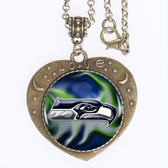 Find More Torques Information about 20pcs Seattle Seahawks Logo Heartshaped Bronze Plated Pendant Necklace Seattle Seahawks Charm  Necklace Women  Men,High Quality necklace packaging,China necklace candy Suppliers, Cheap necklace topaz from DreamFire Store on Aliexpress.com