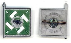 Regiment General Göring__WHW plastic tinnie with pin on reverse___This set was sold on the and March 1940 (Tag der Wehrmacht)___ADV_Source: J Temple-West Charitable Donations, Pin Badges, Temple, Third, March, Plastic, Temples, Mars