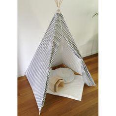 Tipi tent wigwam triangel driehoek grijs wit