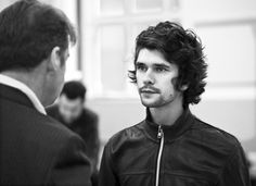 Brendan Coyle and Ben Whishaw at Mojo rehearsals