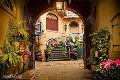 Mexican Hacienda courtyard