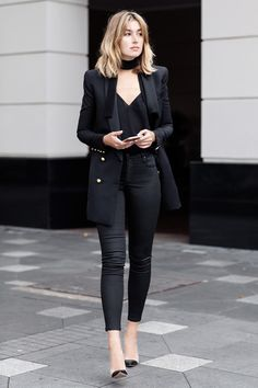 3 cool (and unique!) ways to wear black denim now