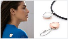 WELLNESS ACCESSOIRES     PENDANT - MAGNETHEART ITEM:  #2049   Additional Characteristics: engravable Applicability: single Compatibility - necklace: C (7,5 x 6,7) Magnet number regular: 1 Magnet strength: 0,22 Substance: copper, stainless steel Surface Finish: polished