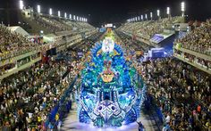 The Portela samba school parade during carnival celebrations in Rio.