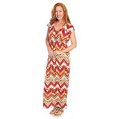 One World Knit Sleeveless Vintage-Style American Flag Maxi Dress ...